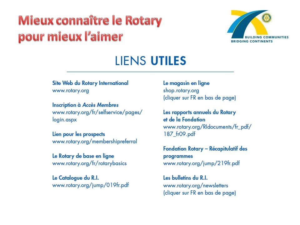 Mieux connaître le Rotary pour mieux l'aimer