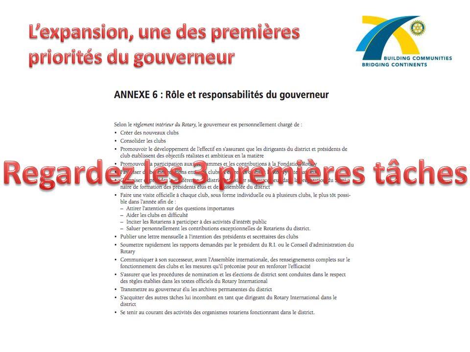 L'expansion, une des premières priorités du gouverneur