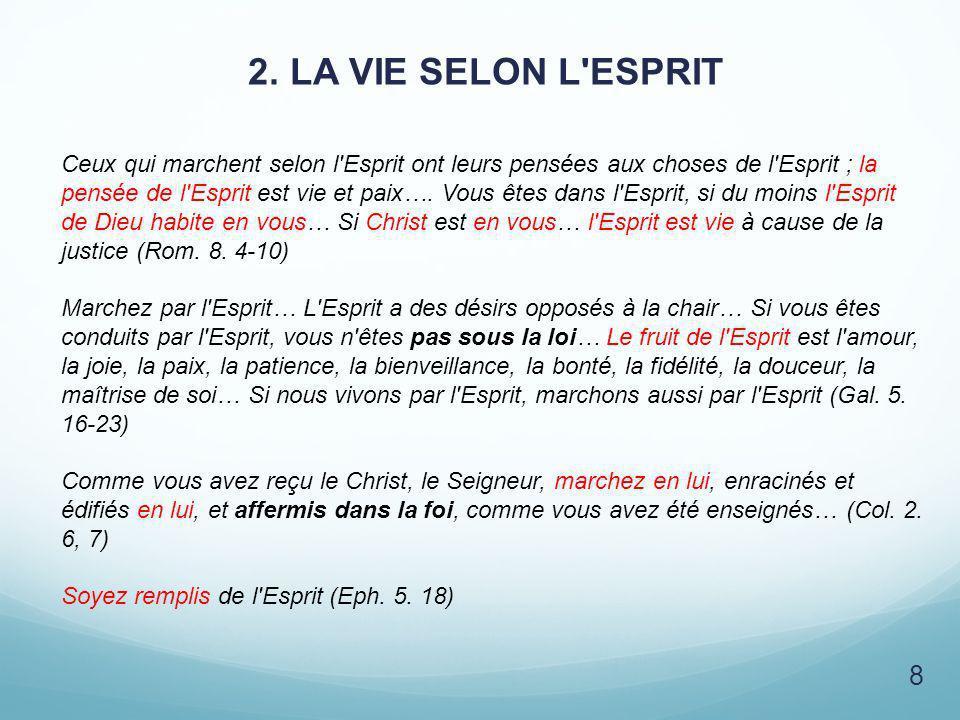 2. LA VIE SELON L ESPRIT