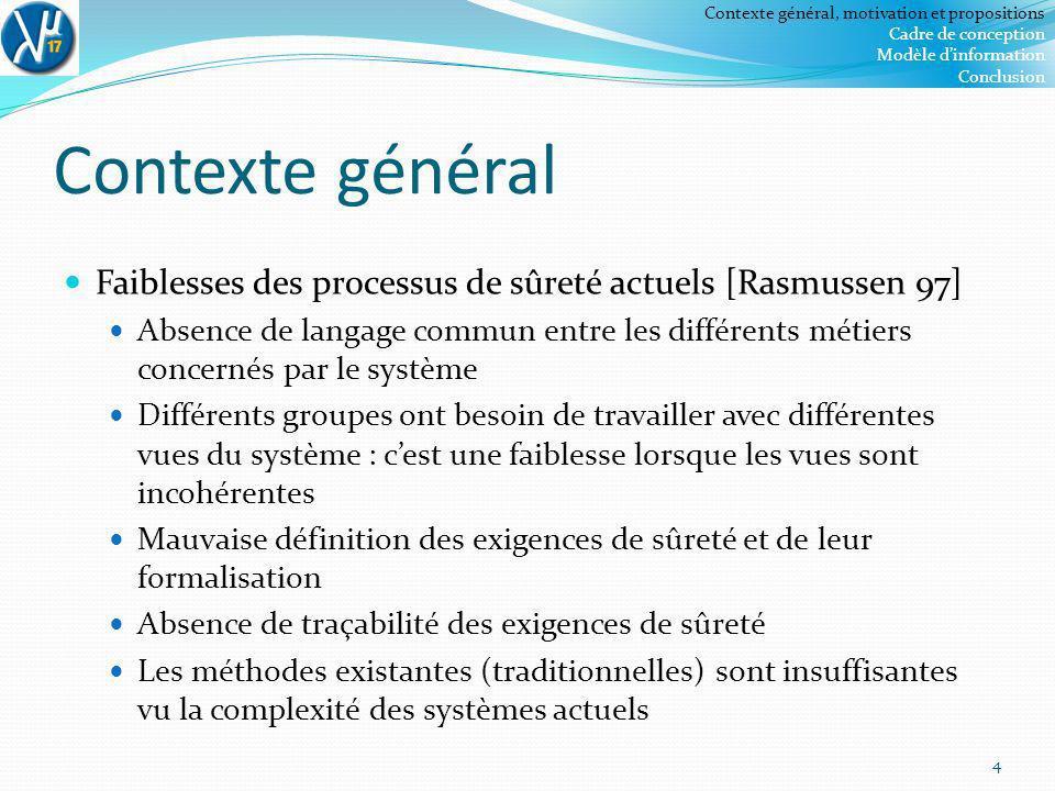 Contexte général, motivation et propositions