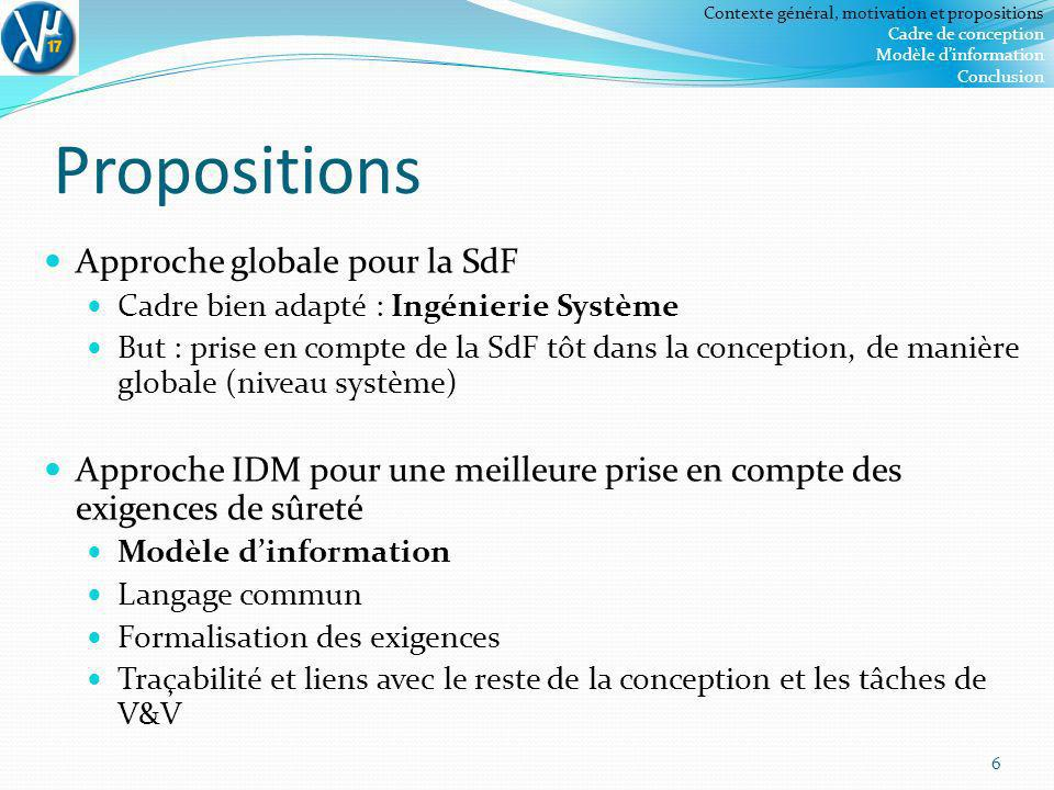 Propositions Approche globale pour la SdF