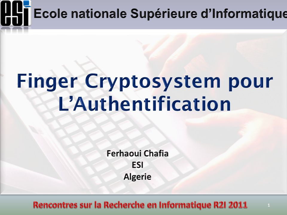 Finger Cryptosystem pour L'Authentification