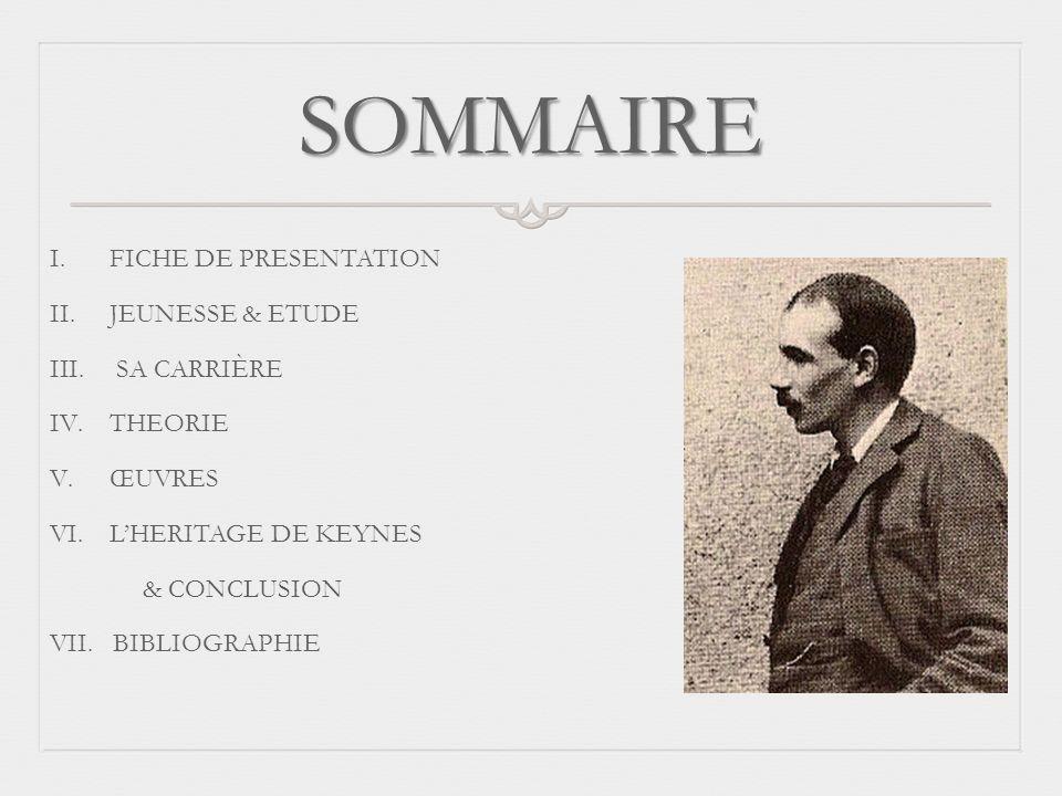 SOMMAIRE FICHE DE PRESENTATION JEUNESSE & ETUDE SA CARRIÈRE THEORIE