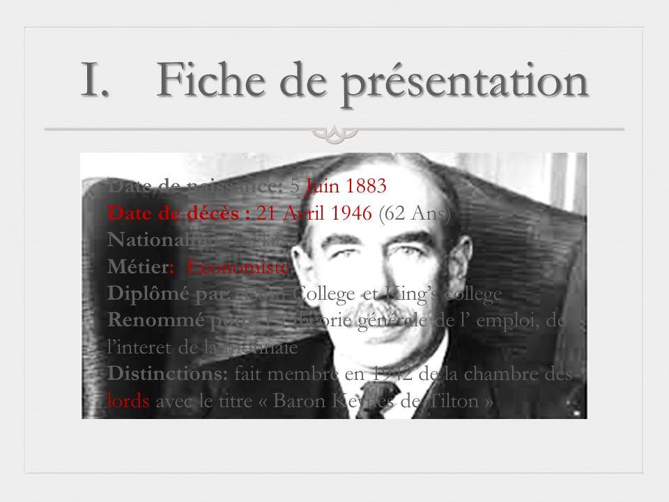 Fiche de présentation Date de naissance: 5 Juin 1883