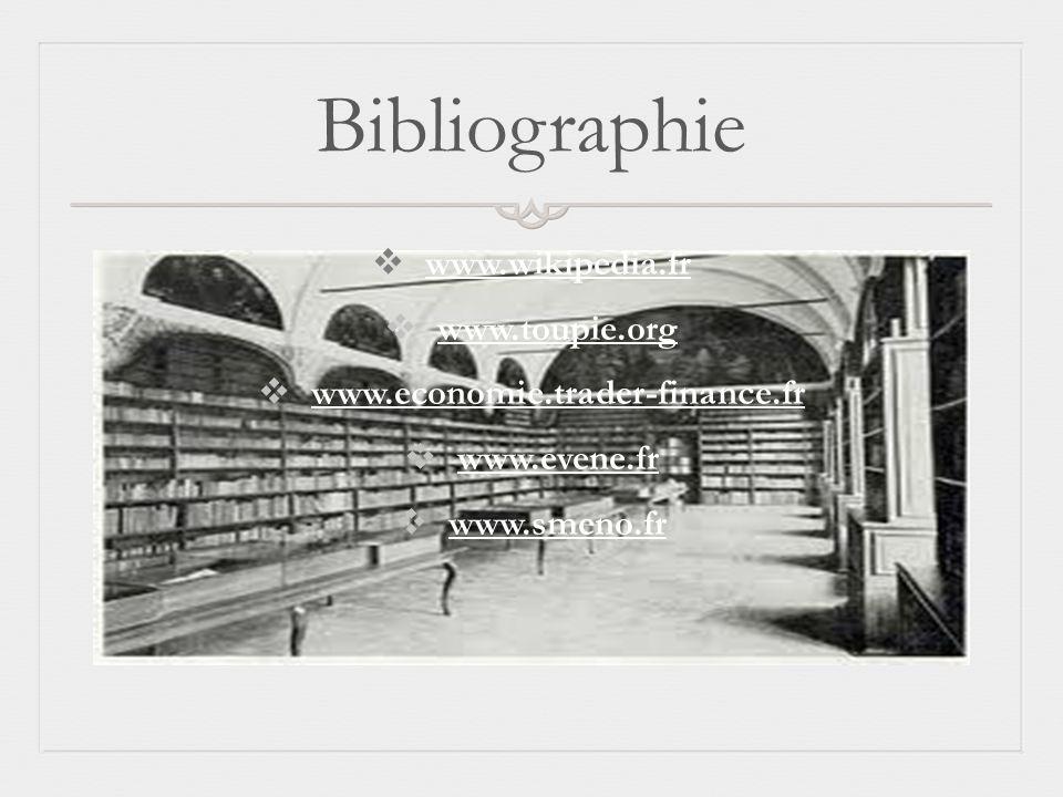 Bibliographie www.wikipedia.fr www.toupie.org