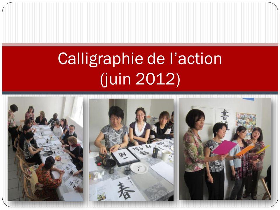 Calligraphie de l'action (juin 2012)