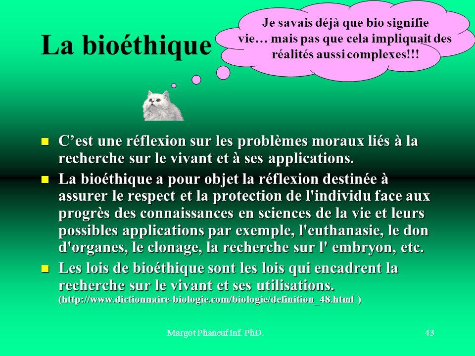 La bioéthique Je savais déjà que bio signifie. vie… mais pas que cela impliquait des réalités aussi complexes!!!
