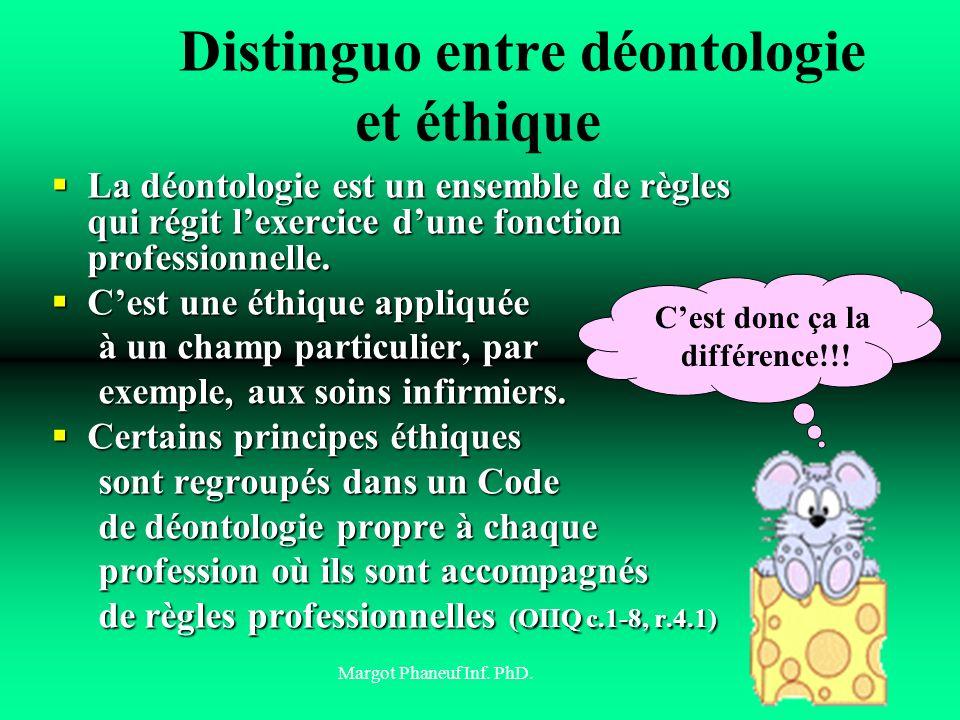Distinguo entre déontologie et éthique