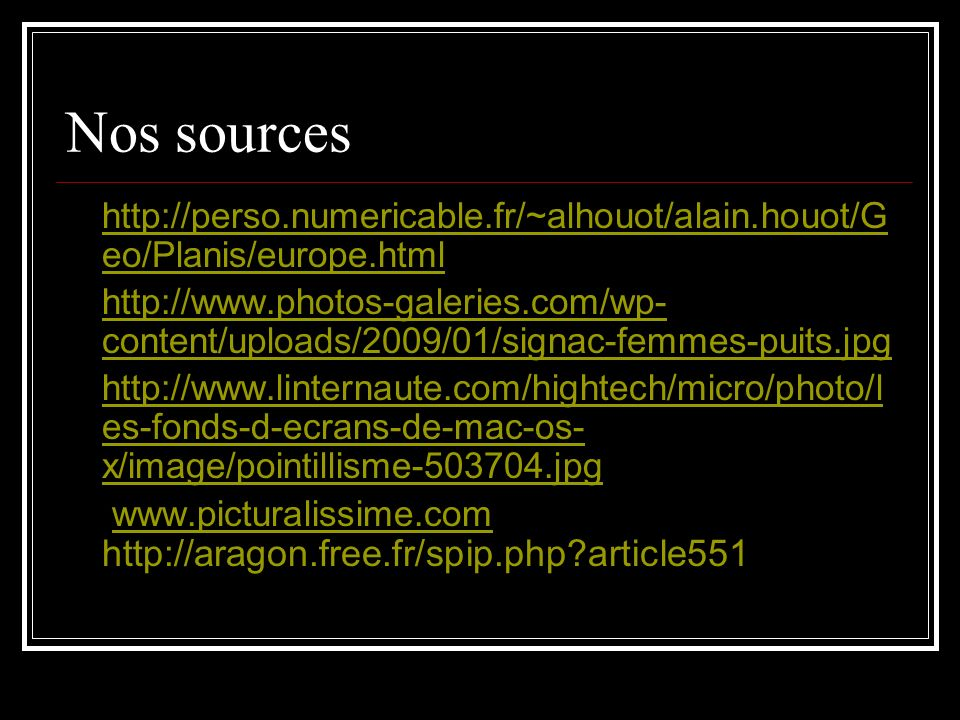 Nos sources http://perso.numericable.fr/~alhouot/alain.houot/Geo/Planis/europe.html.
