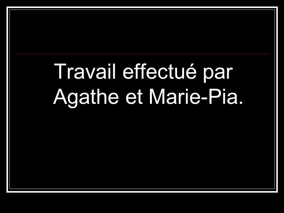 Travail effectué par Agathe et Marie-Pia.