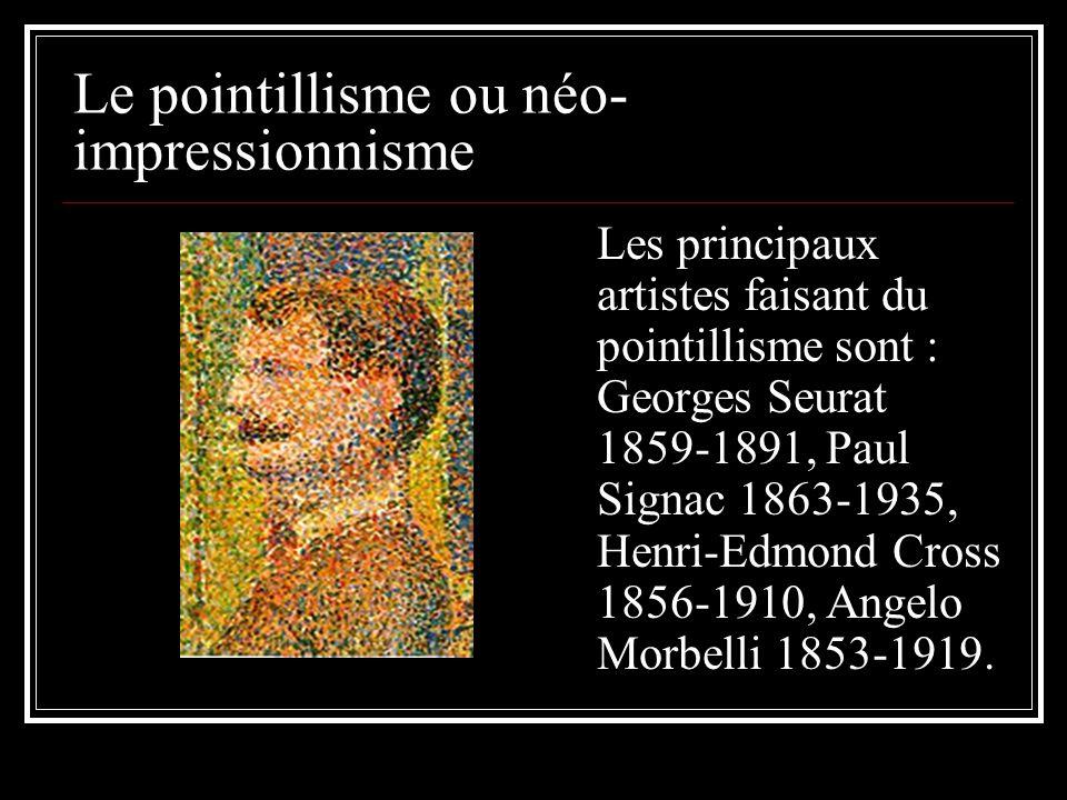 Le pointillisme ou néo-impressionnisme