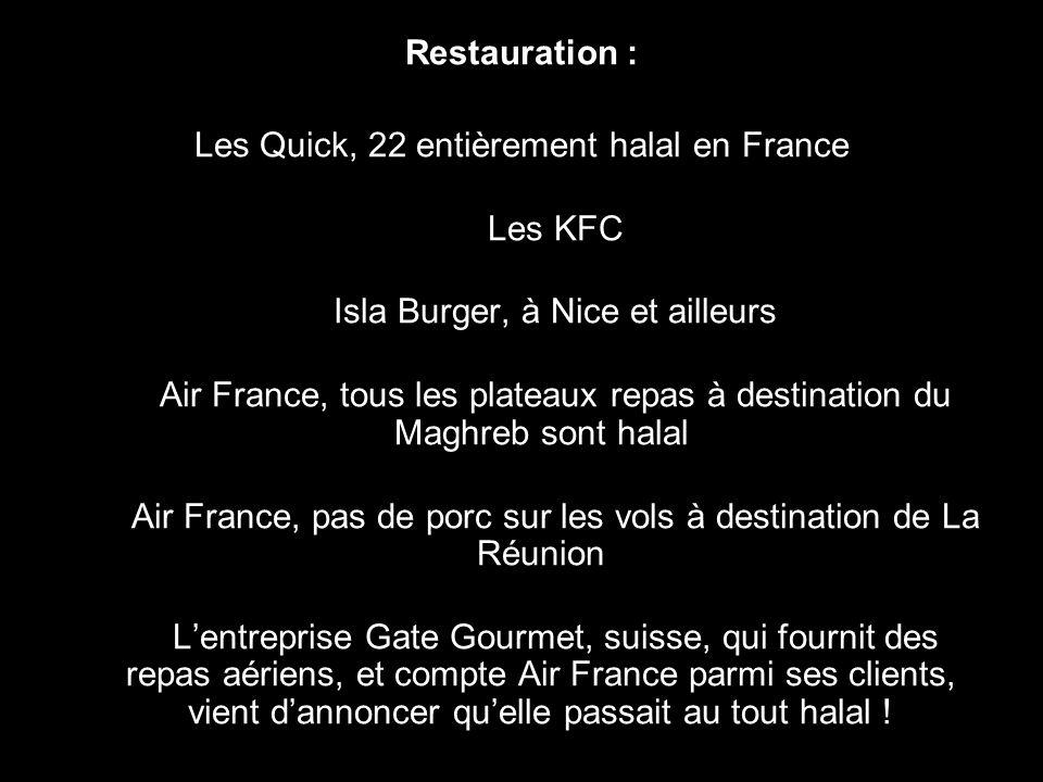 Les Quick, 22 entièrement halal en France Les KFC