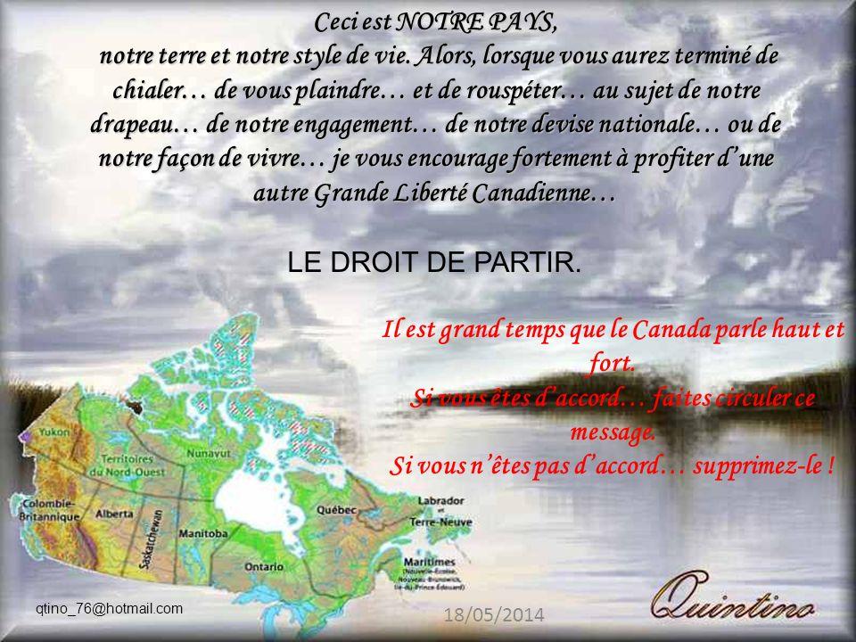 Il est grand temps que le Canada parle haut et fort.