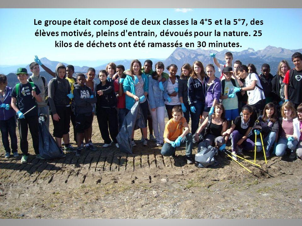 Le groupe était composé de deux classes la 4°5 et la 5°7, des élèves motivés, pleins d entrain, dévoués pour la nature.