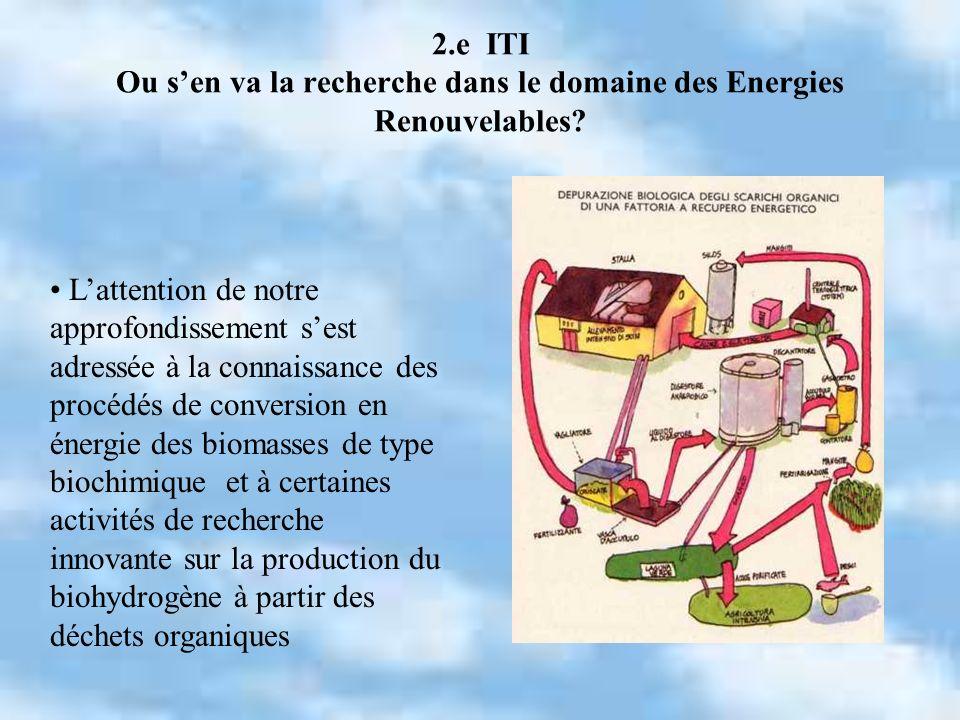 2.e ITI Ou s'en va la recherche dans le domaine des Energies Renouvelables