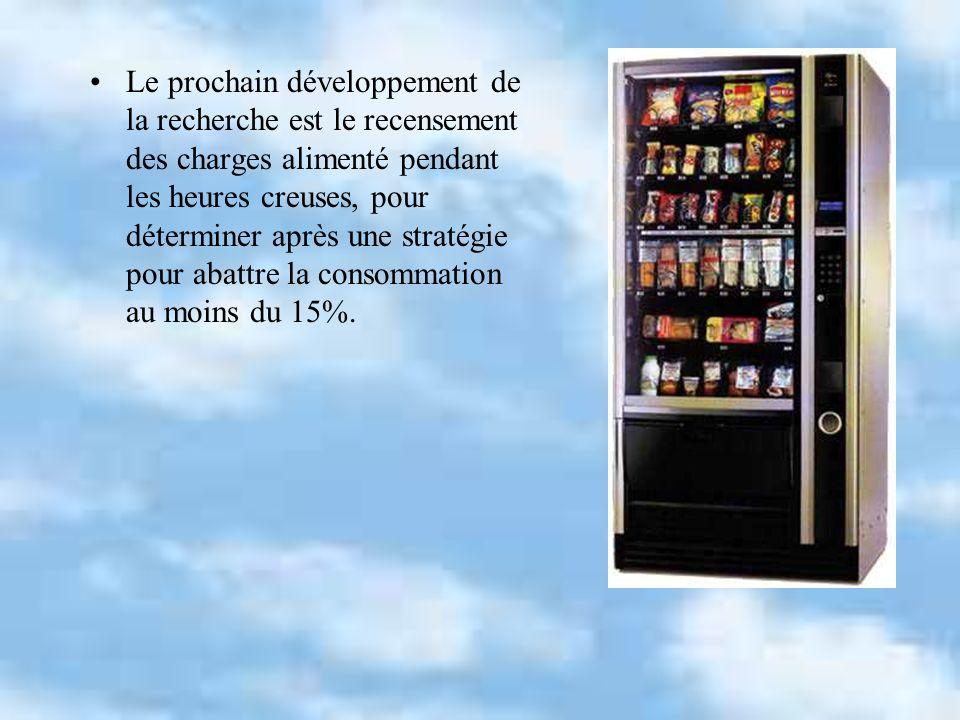 Le prochain développement de la recherche est le recensement des charges alimenté pendant les heures creuses, pour déterminer après une stratégie pour abattre la consommation au moins du 15%.