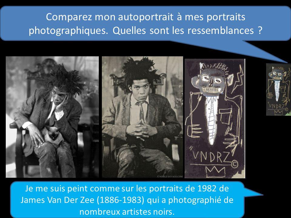 Comparez mon autoportrait à mes portraits photographiques