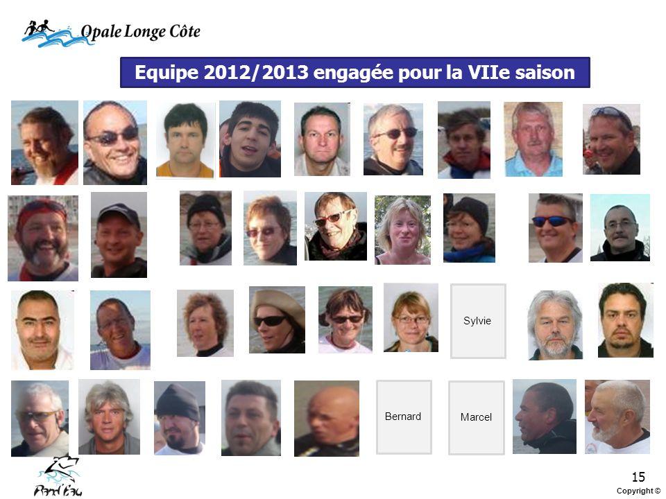 Equipe 2012/2013 engagée pour la VIIe saison