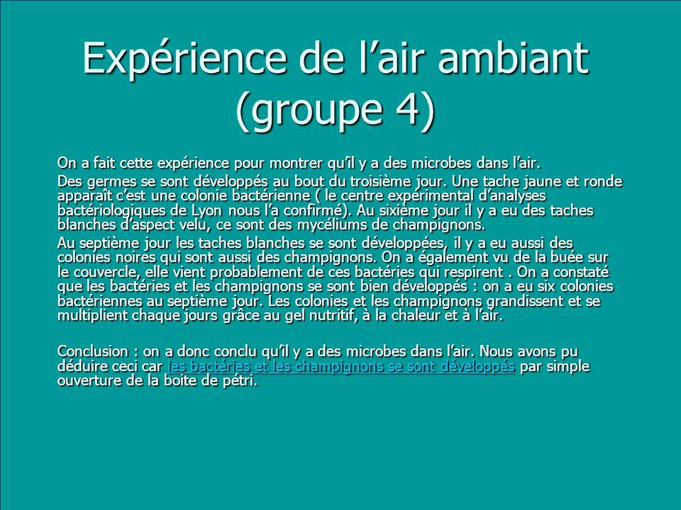 Expérience de l'air ambiant (groupe 4)
