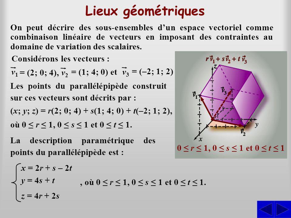 Lieux géométriques