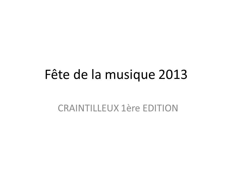 CRAINTILLEUX 1ère EDITION