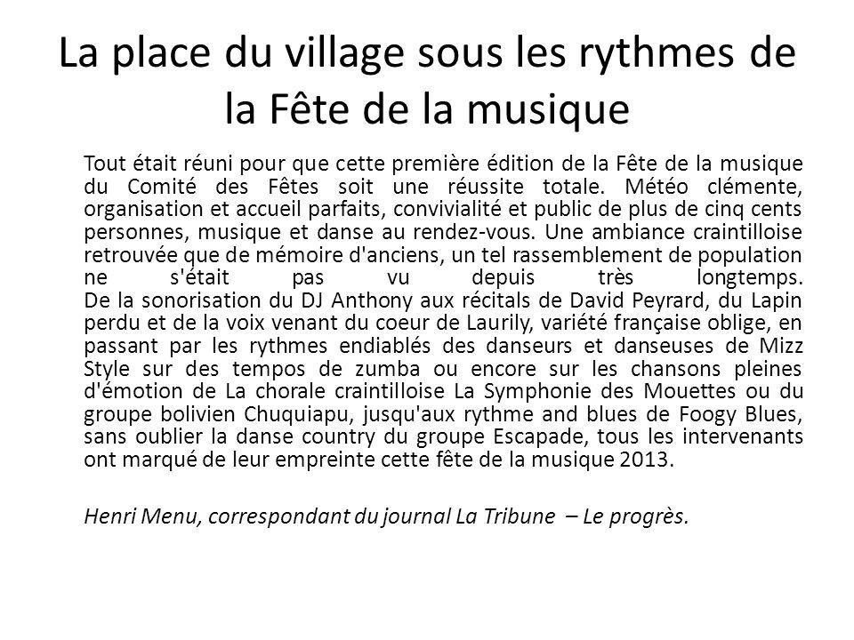 La place du village sous les rythmes de la Fête de la musique