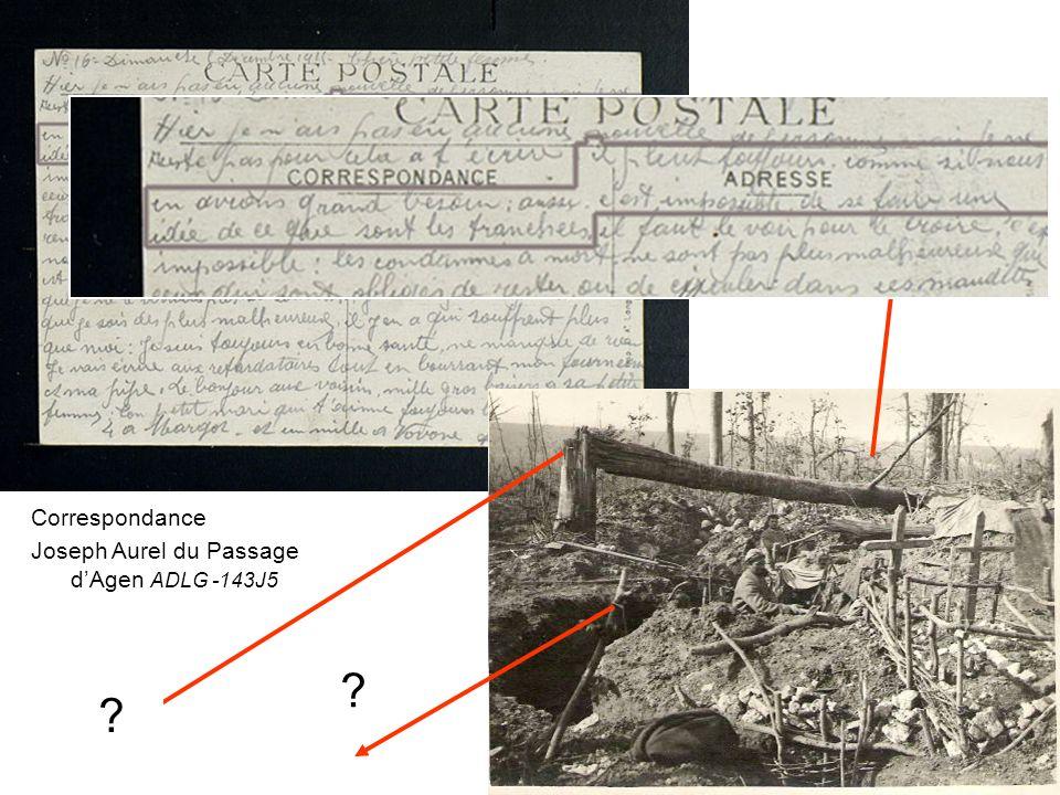 Correspondance Joseph Aurel du Passage d'Agen ADLG -143J5
