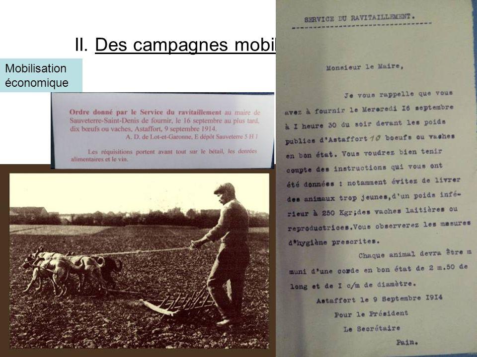 II. Des campagnes mobilisées à l'arrière