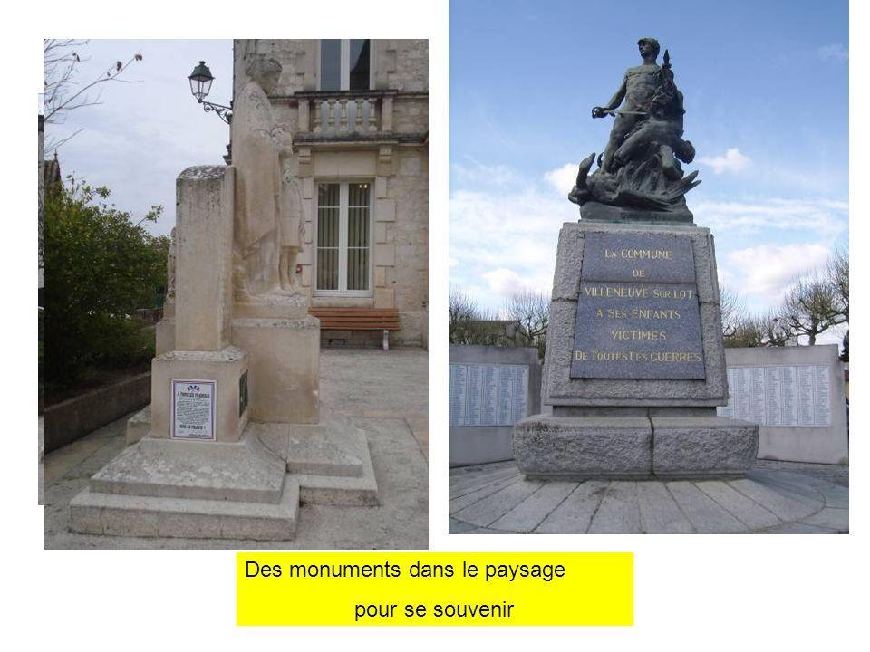 Des monuments dans le paysage