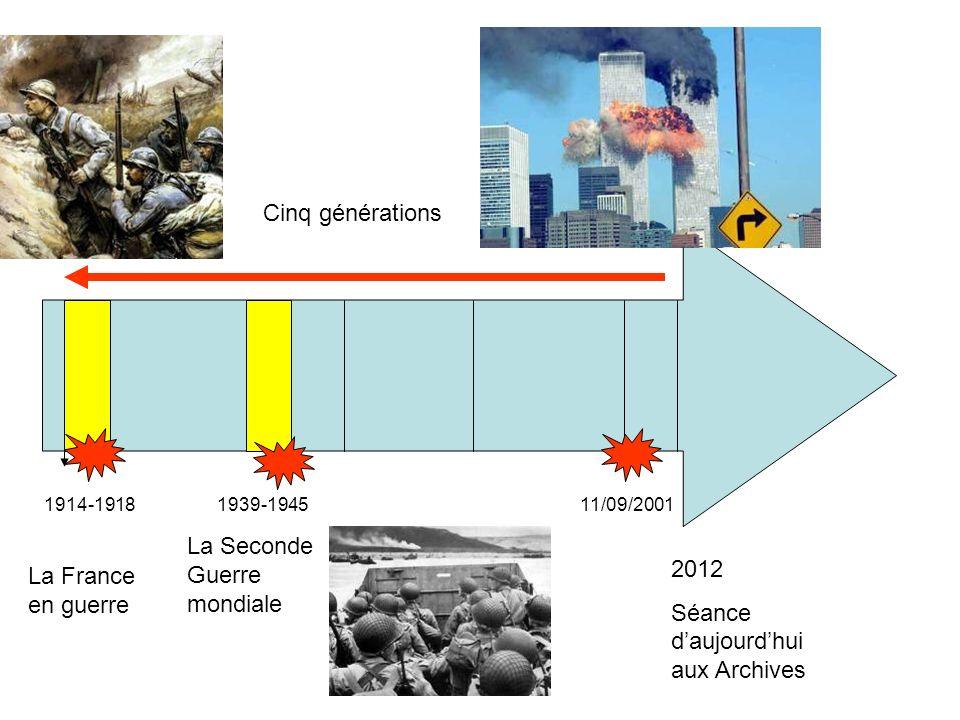 La Seconde Guerre mondiale 2012 Séance d'aujourd'hui aux Archives
