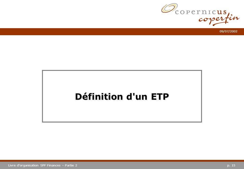 Définition d un ETP