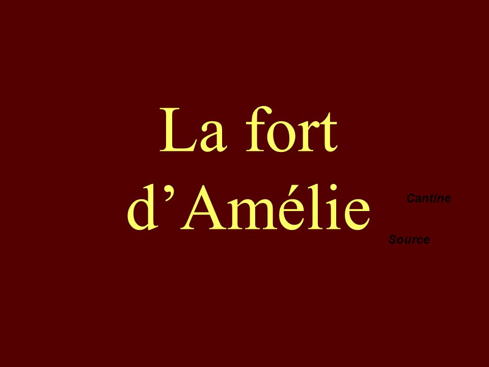 La fort d'Amélie Cantine Source