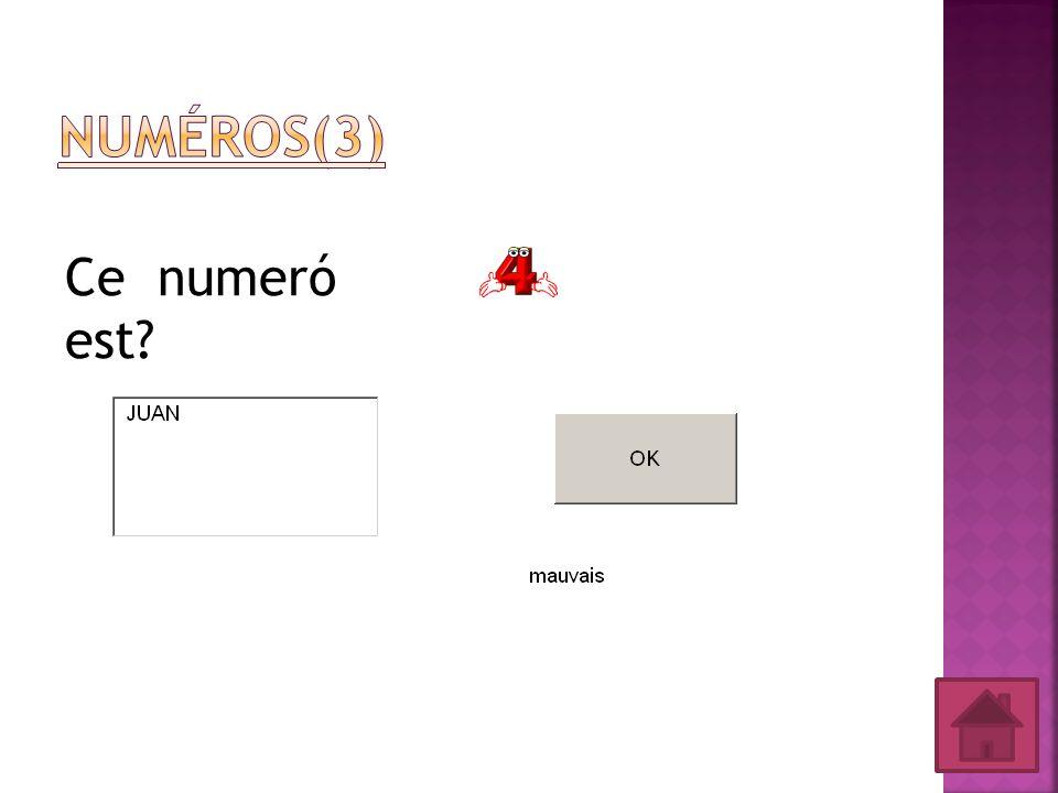 Numéros(3) Ce numeró est