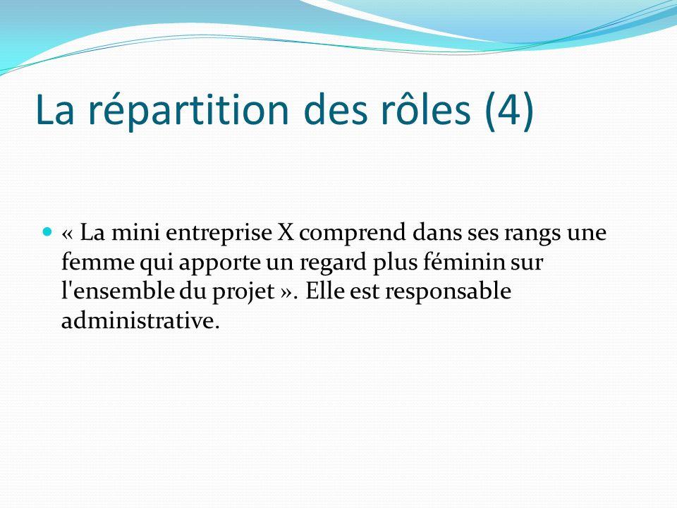 La répartition des rôles (4)