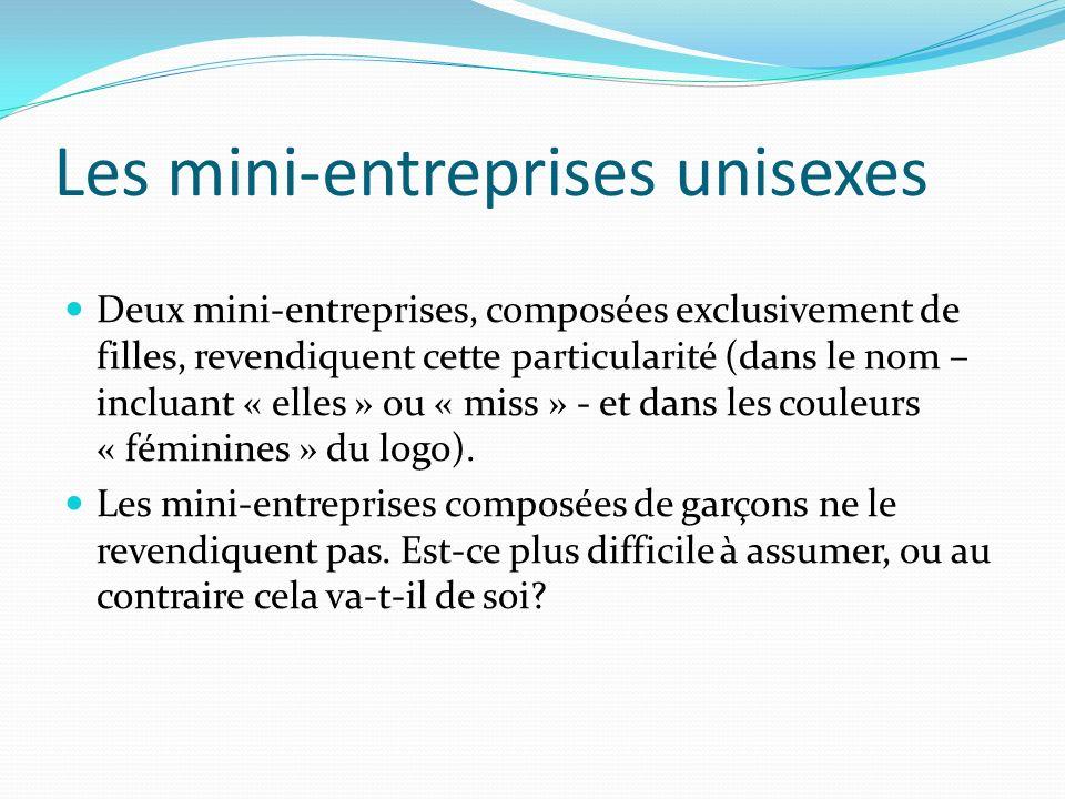 Les mini-entreprises unisexes
