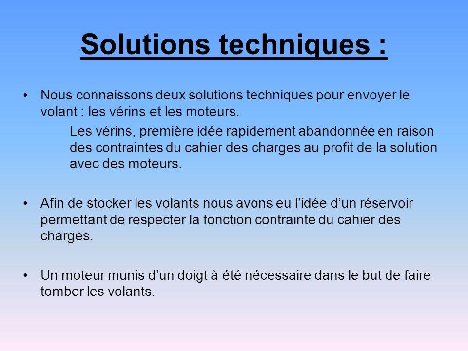 Solutions techniques :