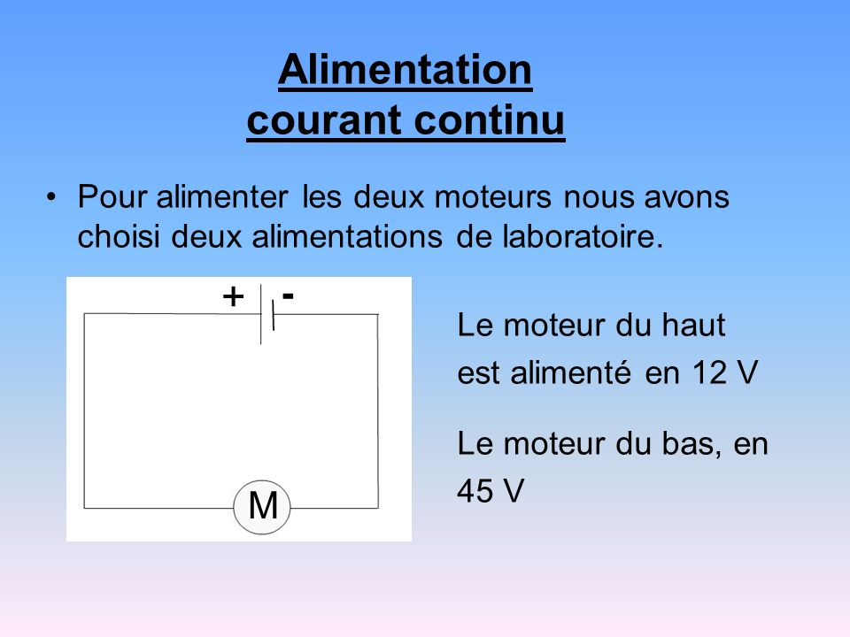 Alimentation courant continu