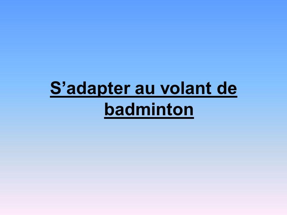S'adapter au volant de badminton