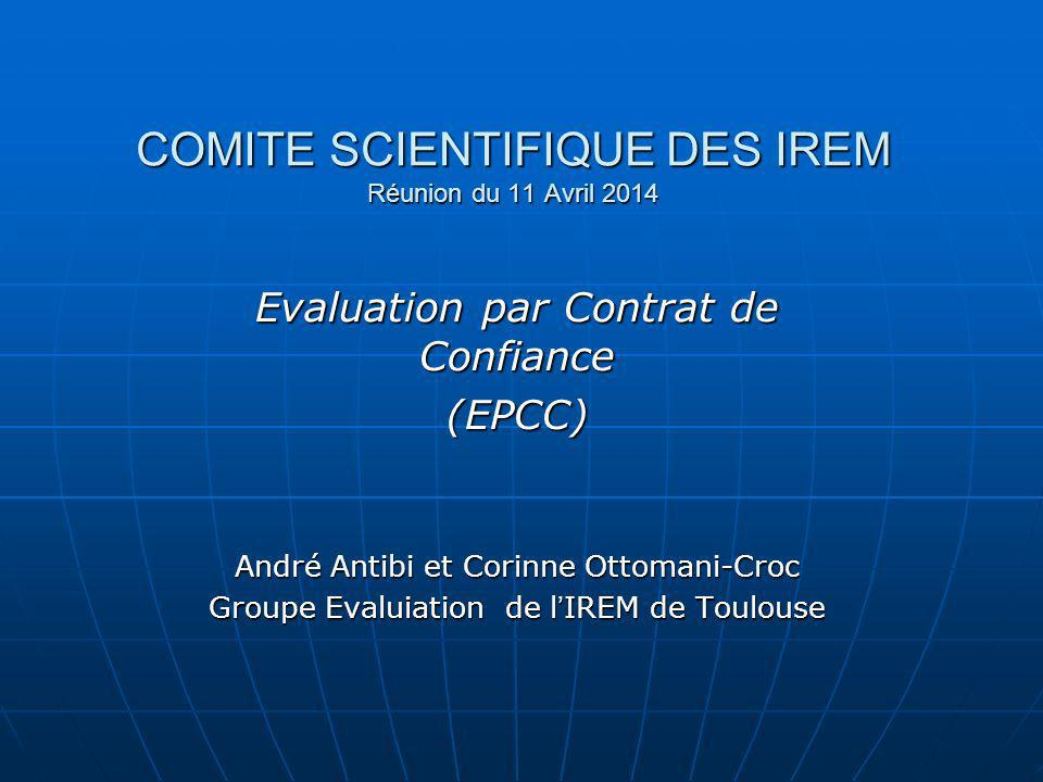 COMITE SCIENTIFIQUE DES IREM Réunion du 11 Avril 2014