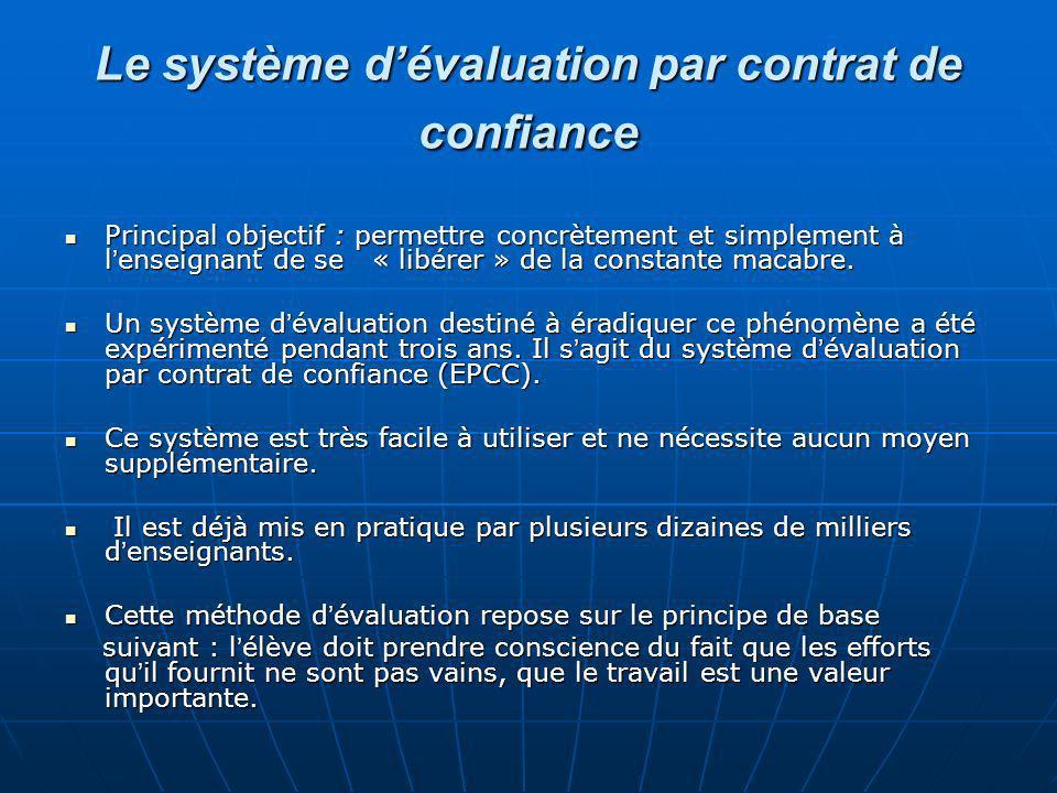 Le système d'évaluation par contrat de confiance