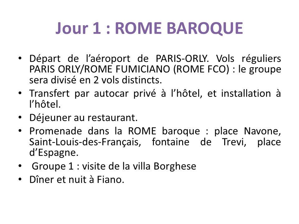 Jour 1 : ROME BAROQUE