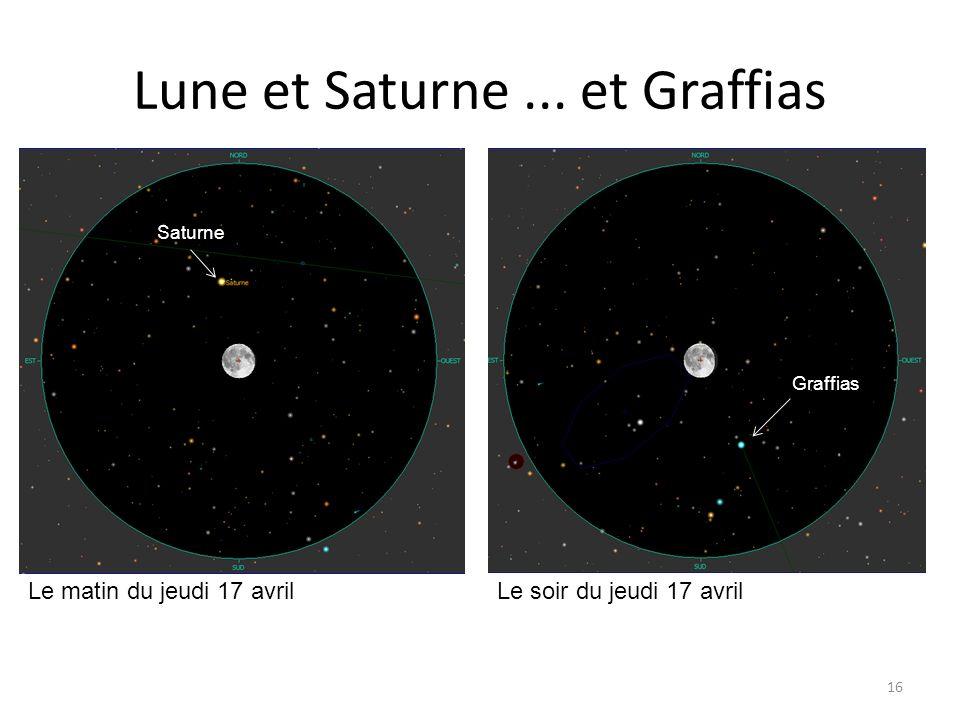 Lune et Saturne ... et Graffias
