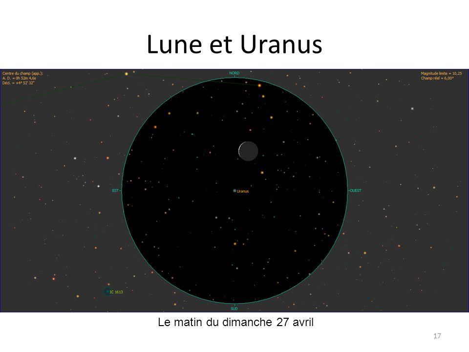 Lune et Uranus Le matin du dimanche 27 avril
