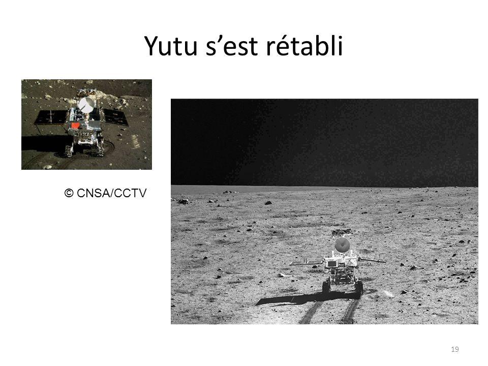 Yutu s'est rétabli © CNSA/CCTV