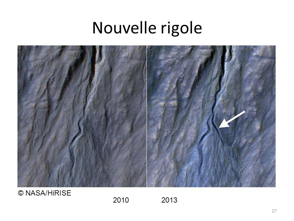 Nouvelle rigole © NASA/HiRISE 2010 2013