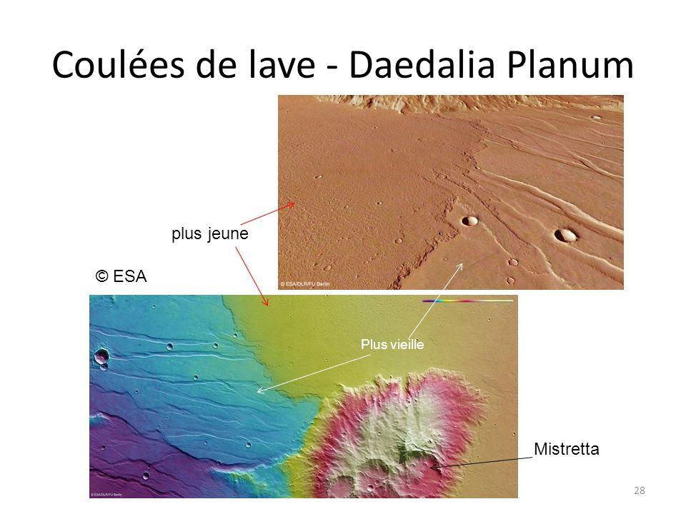 Coulées de lave - Daedalia Planum