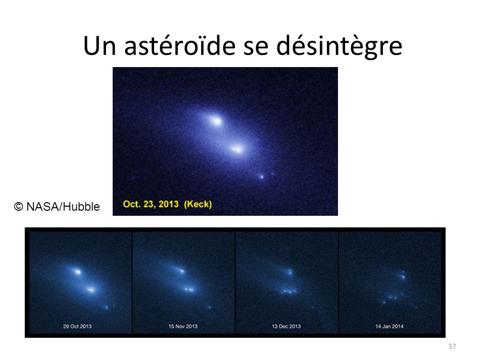 Un astéroïde se désintègre