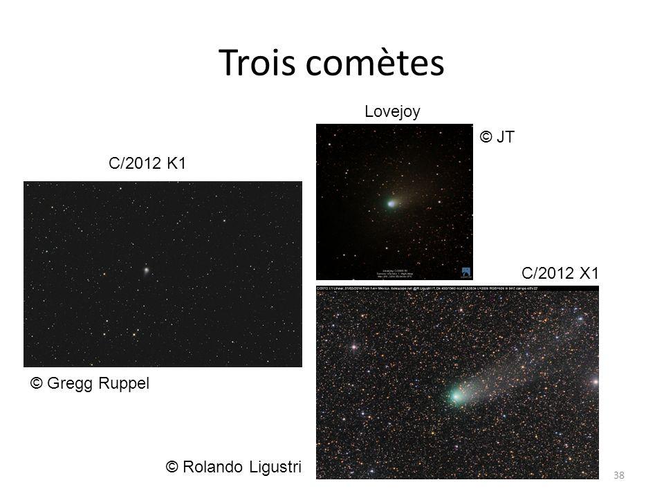 Trois comètes Lovejoy © JT C/2012 K1 C/2012 X1 © Gregg Ruppel