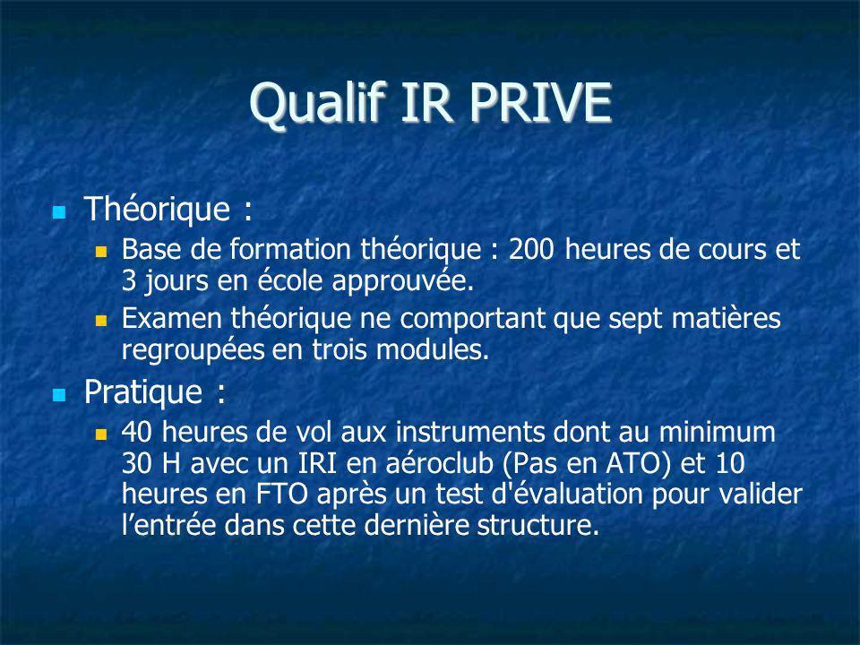 Qualif IR PRIVE Théorique : Pratique :