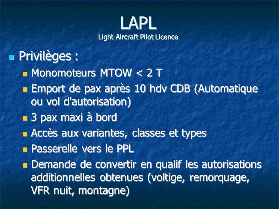 LAPL Light Aircraft Pilot Licence